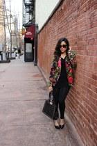 lexmila blazer - Forever21 leggings - OASAP bag - Mandee heels