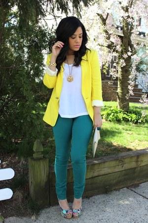H&M jeans - Zara blazer - Chinese Laundry heels