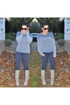 one grey day sweater - Mandee boots - H&M pants