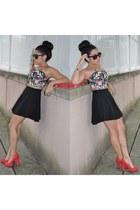 Target heels - Plndr bag - Charlotte Russe skirt - bustier Charlotte Russe top
