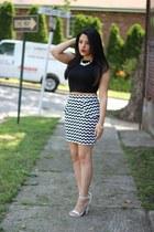 crop top furor moda top - chevron print Charlotte Russe skirt