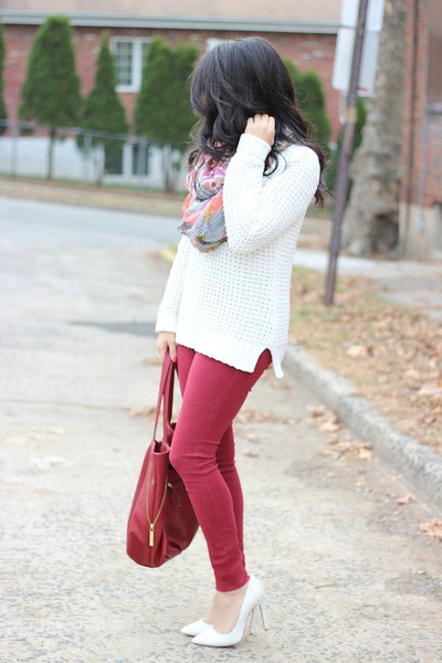 Old Navy sweater - skinny Habitual jeans - Charlotte Russe scarf