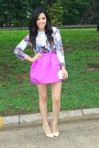 Forever21 skirt - H&M top - Forever21 heels