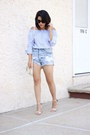 One-teaspoon-shorts-zara-top