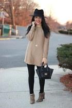 Dynamite sweater - leopard Target boots - H&M hat - Zara leggings