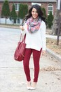 Skinny-habitual-jeans-old-navy-sweater-charlotte-russe-scarf