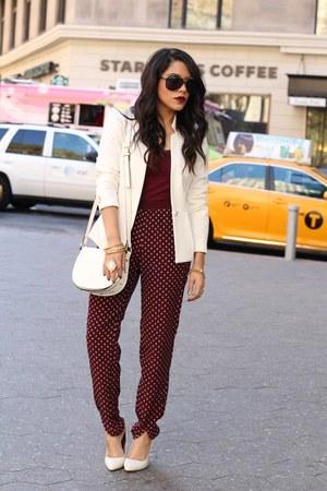 H&M blazer - H&M bag - H&M pants - Aldo heels