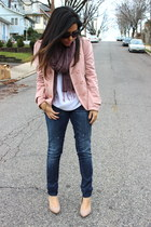 Love Shopping Miami coat - Forever21 jeans - Juicy Couture scarf - Zara heels