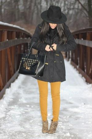 H&M jacket - Target boots - H&M hat - HUE leggings