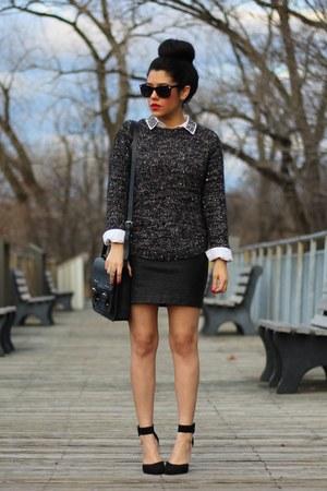 Tommy Hilfiger sweater - Old Navy shirt - satchel H&M bag - Dynamite skirt