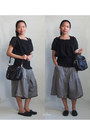 Black-romwecom-bag-black-blouse-heather-gray-pants-black-loafers