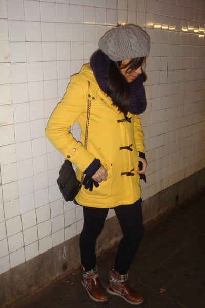 H&M hat - Zara scarf - American Eagle coat - Urban Outfitters purse - Tommy Hilf
