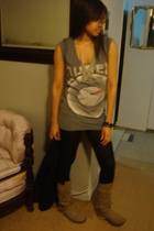 Laila Roe necklace - Forever 21 t-shirt - H&M tights - Steve Madden boots - H&M