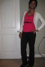 Hot-pink-ruffles-forever-21-top-ivory-sequined-old-navy-cardigan