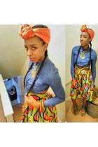 african print handmade skirt