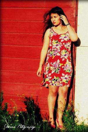 red size m xhilaration dress