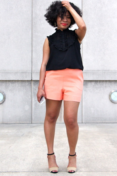 light orange shorts DIY shorts