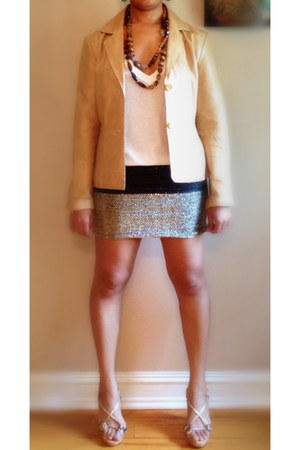 sequined DIY skirt - leather jacket wilsons leather jacket