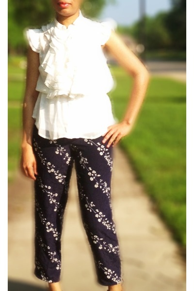 navy DIY pants