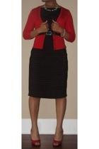 Charlotte Russe sweater - DIY dress - Target belt - go jane shoes