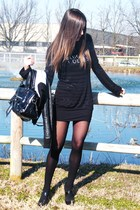 black blugirl dress - black Guess shoes - black