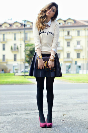 OASAP cardigan - YSL bag - In Love with Fashion skirt