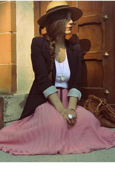 bubble gum Luisa Beccaria skirt