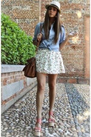 white Primark skirt
