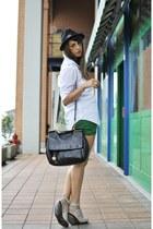 Zara shorts - disquared hat - miss sicily - dolce & gabbana bag
