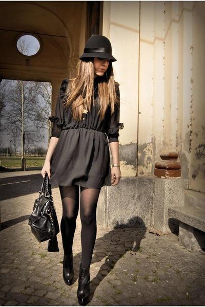 black asos boots - black balenciaga bag