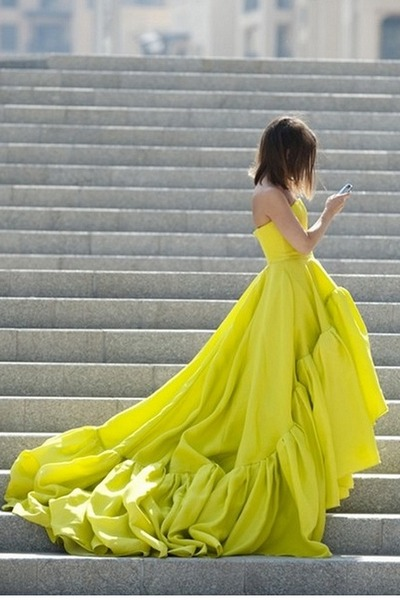 yellow no brand dress