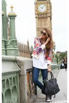red Pinko blazer - Zara jeans