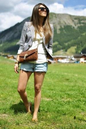 light blue Levis shorts