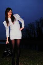 silver asos dress - black Guess shoes - black balenciaga