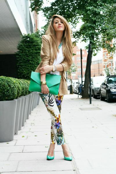 aquamarine OASAP bag - aquamarine georgina rose shoes - aquamarine Zara jeans