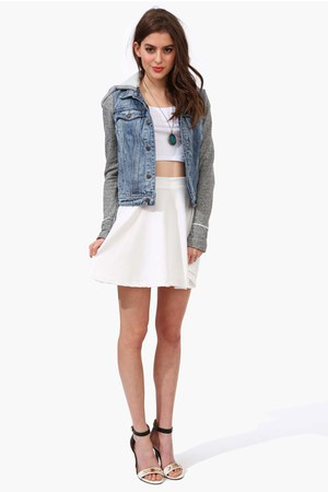 denim jacket necessary clothing jacket - skater skirt necessary clothing skirt