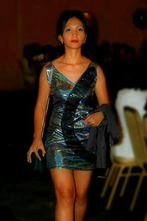black snakeskin People are People shoes - silver glitter dress