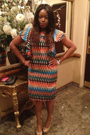 nude sam edelman Nude pumps pumps - african print Custom-made Ankara Dress dress