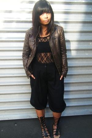 top - jacket - pants - shoes - bra