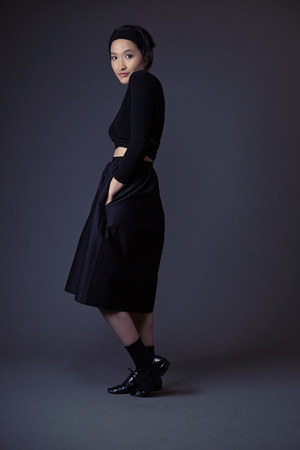 black Repetto shoes - black Uniqlo socks - black neneee skirt