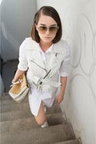 COS dress - Tom Ford sunglasses - Miss Sixty vest