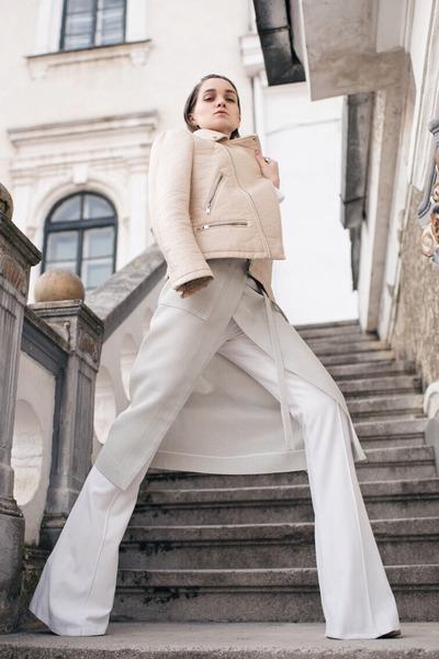 Neoandlime skirt - Zara jacket - Mango shirt - Neoandlime pants