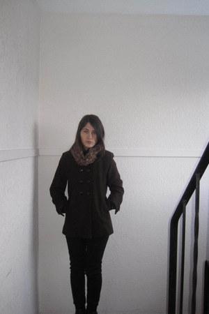 dark brown wool Suzy Shier coat