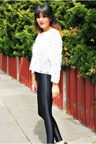 black disco pants American Apparel leggings