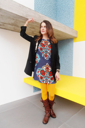 Miss Sixty boots - mirror print BLANCO dress