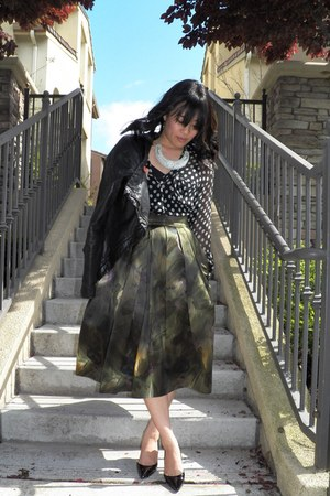 Dries Van Noten skirt - All Saints jacket - Elizabeth and James shirt