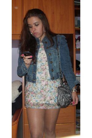 Zara dress - silver bag - BLANCO jacket