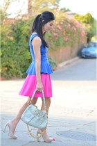 blue INC top - light blue Marc Jacobs bag - light pink Miu Miu heels