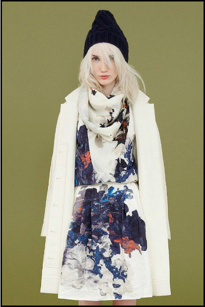 white Cacharel coat