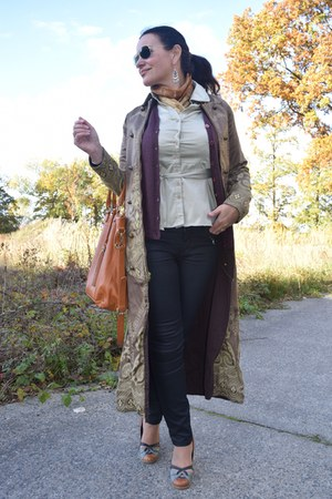 Indigena coat - Express shirt - Ray Ban sunglasses - Express cardigan